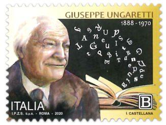 Francobollo dedicato a Giuseppe Ungaretti