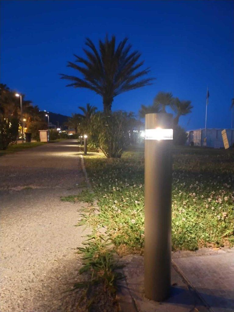 Andora nuovi punti luce sulla passeggiata a mare di levante 04