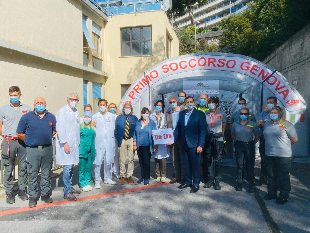 Genova 2020 06 18 Smontaggio Tenda 03