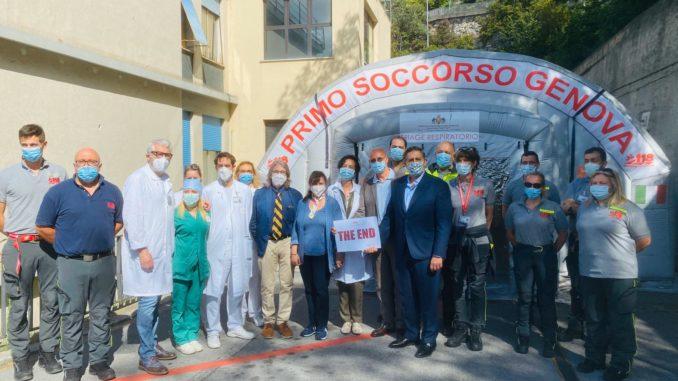 Al San Martino di Genova smontata la tenda pre triage