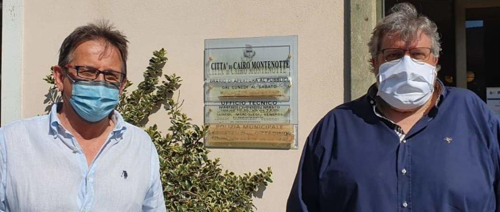 Il consigliere regionale Angelo mVaccarezza a Cairo Montenotte