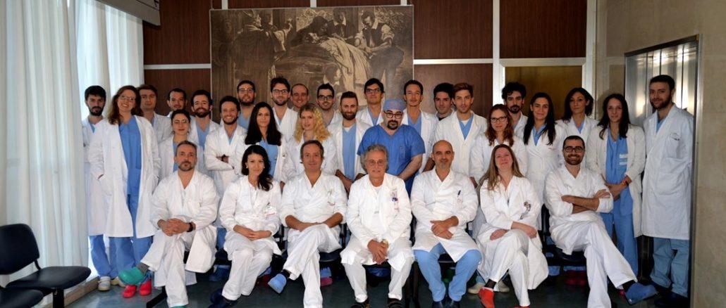 Ospedale di Padova - La squadra di sanitari di Chirurgia Plastica