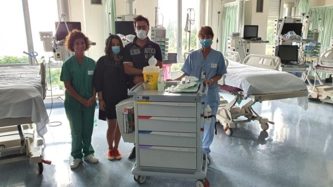 Ospedale San Paolo di Savona - figli di Gianni Lacirignola con personale rianimazione