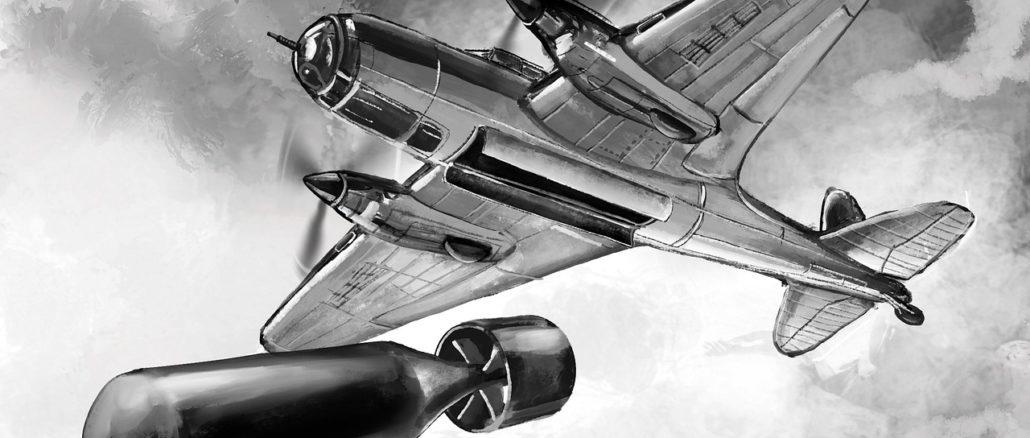 aereo sgancia una bomba