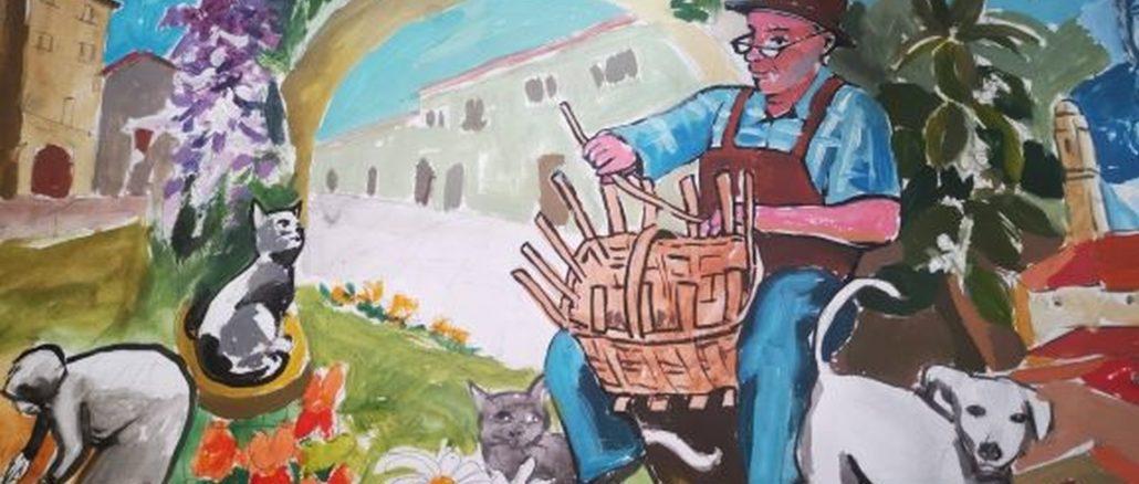 particolare del murales - Caprauna