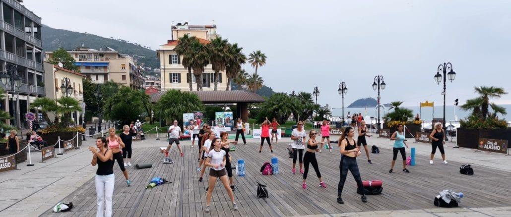 Alassio Summer Town fitness in Piazza Partigiani - 01