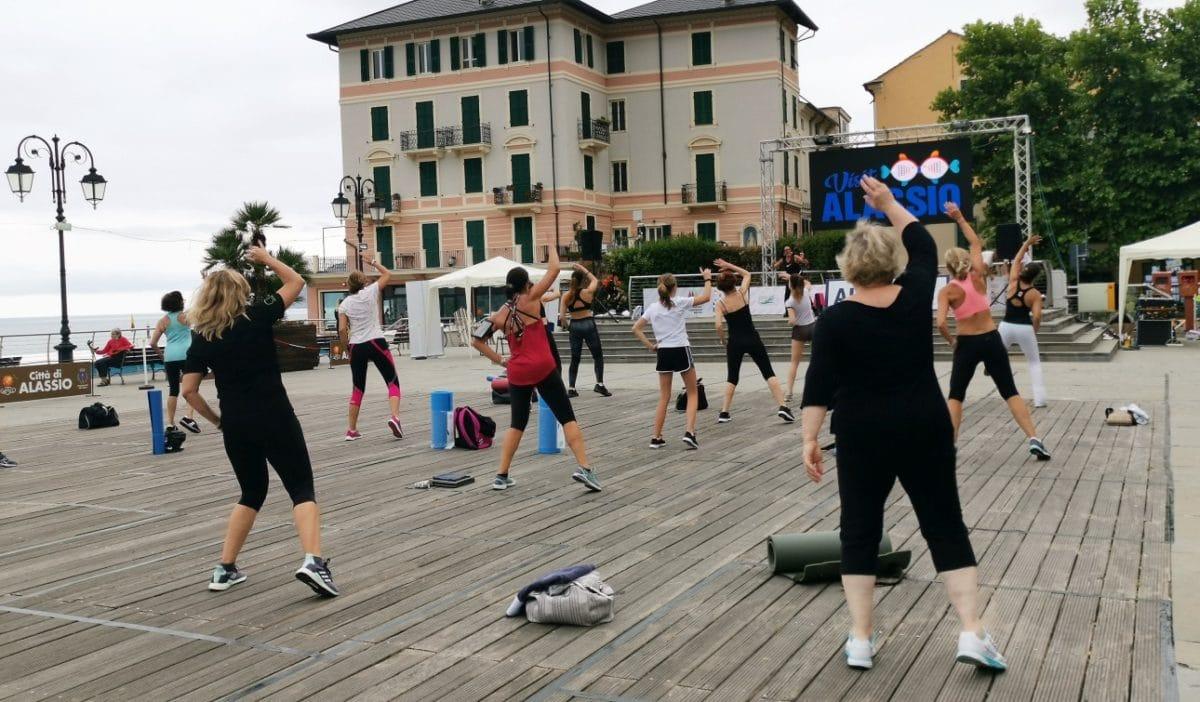 Alassio Summer Town fitness in Piazza Partigiani - 02