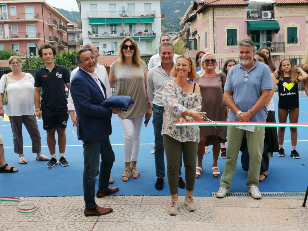 Alassio - inaugurazione campo polifunzionale al PalaRavizza