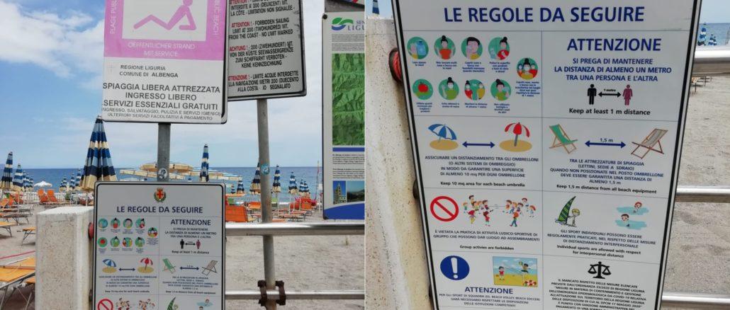 Albenga regole spiaggia libera