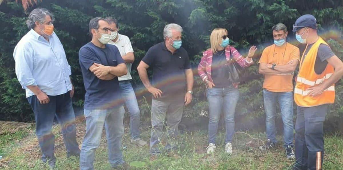 Consigliere Regione Liguria Vaccarezza sopralluogo a Dego