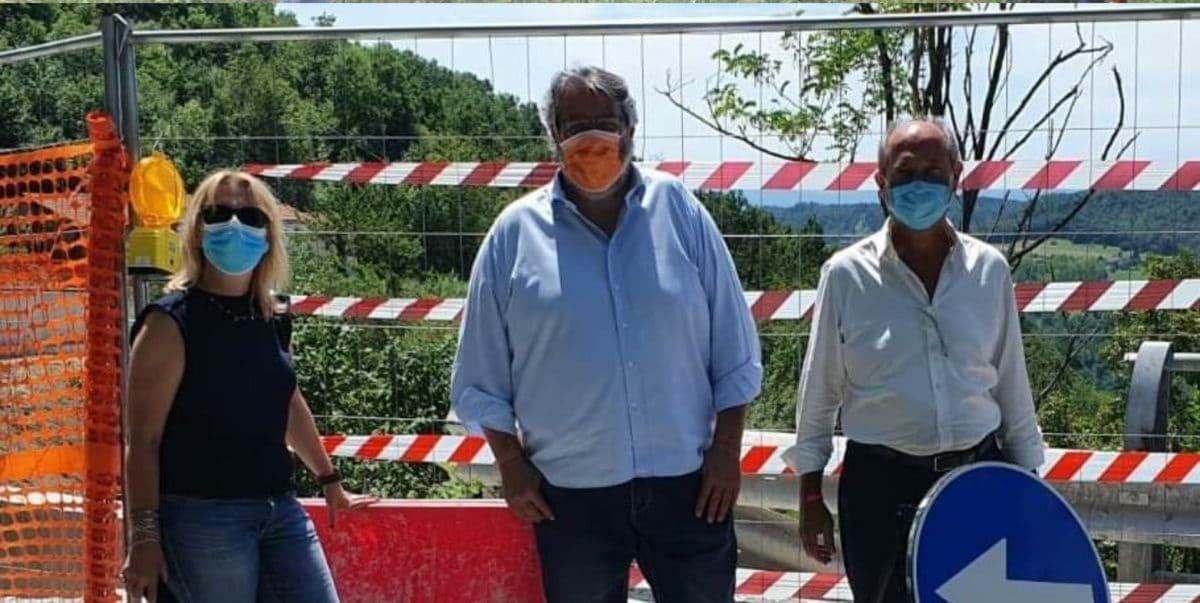 Consigliere Regione Liguria Vaccarezza sopralluogo a Piana Crixia