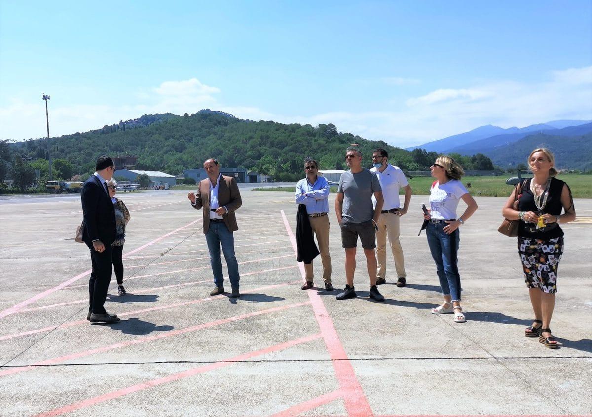 Delegazione Alassio al Riviera Airport - Il gruppo con Tousseint