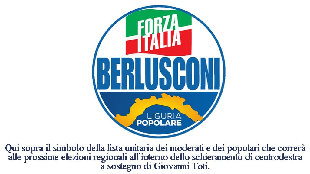 Elezioni Regione Liguria - simbolo Popolari e FI