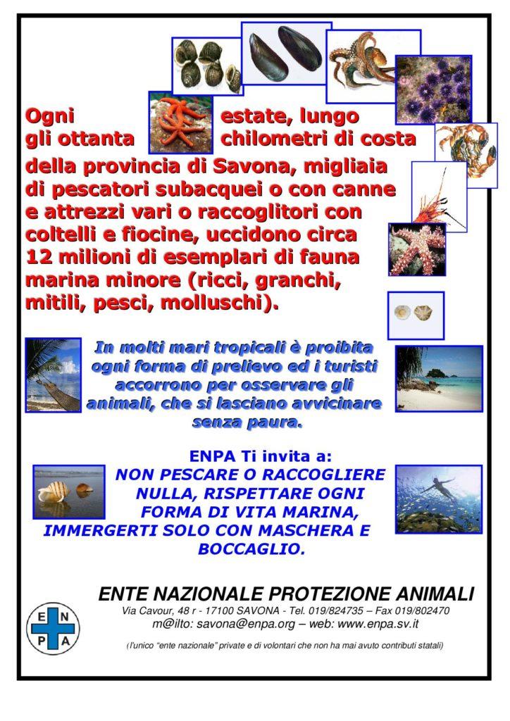 Enpa Savona - manif fauna marina minore