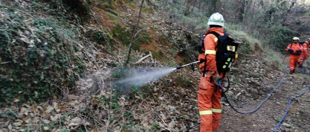 Liguria - una esercitazione antincendio