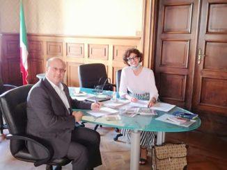 Presidente di Coop Liguria Roberto Pittalis e la Sindaco di Savona Ilaria Caprioglio
