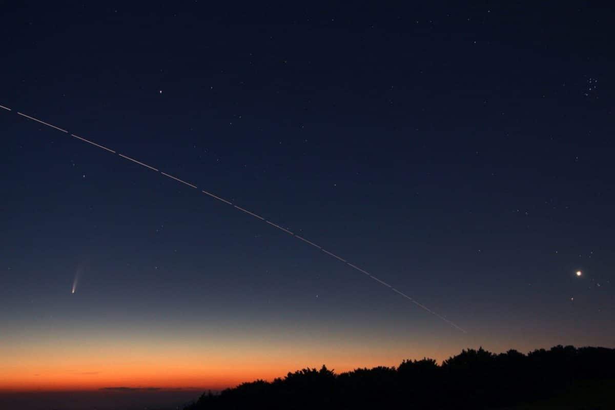Savona associazione Astrofili Orione - Cometa 2020 F3 Neowis vista dal Beigua
