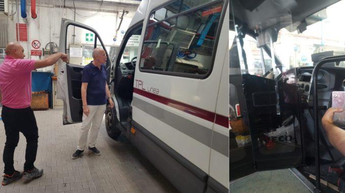 Savona - nuova paratie mezzi Tpl Linea