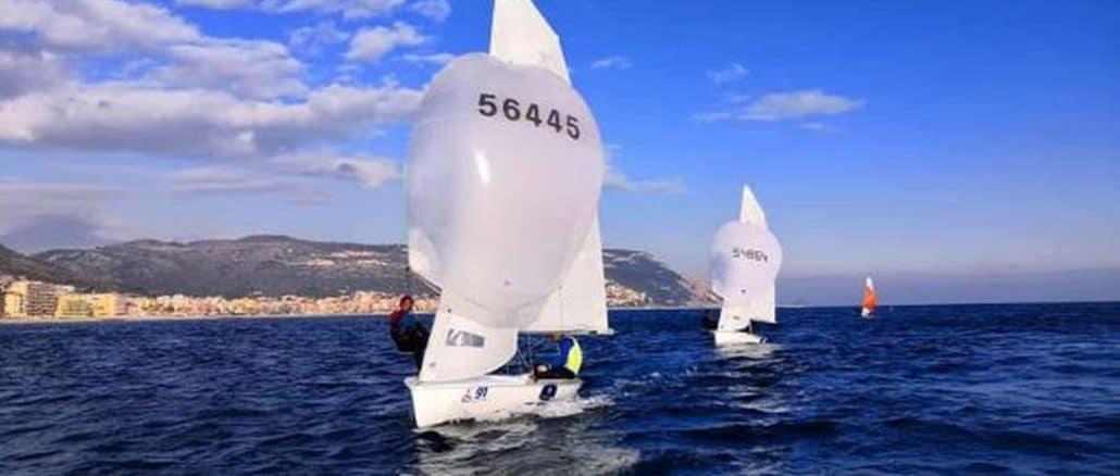 Vela regata in mare in Liguria