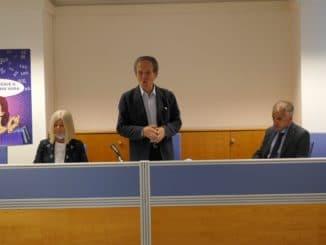 Vincenzo Bertino presidente Confcommercio Savona e Alessio Berta Responsabile Area Savona Banca Carige