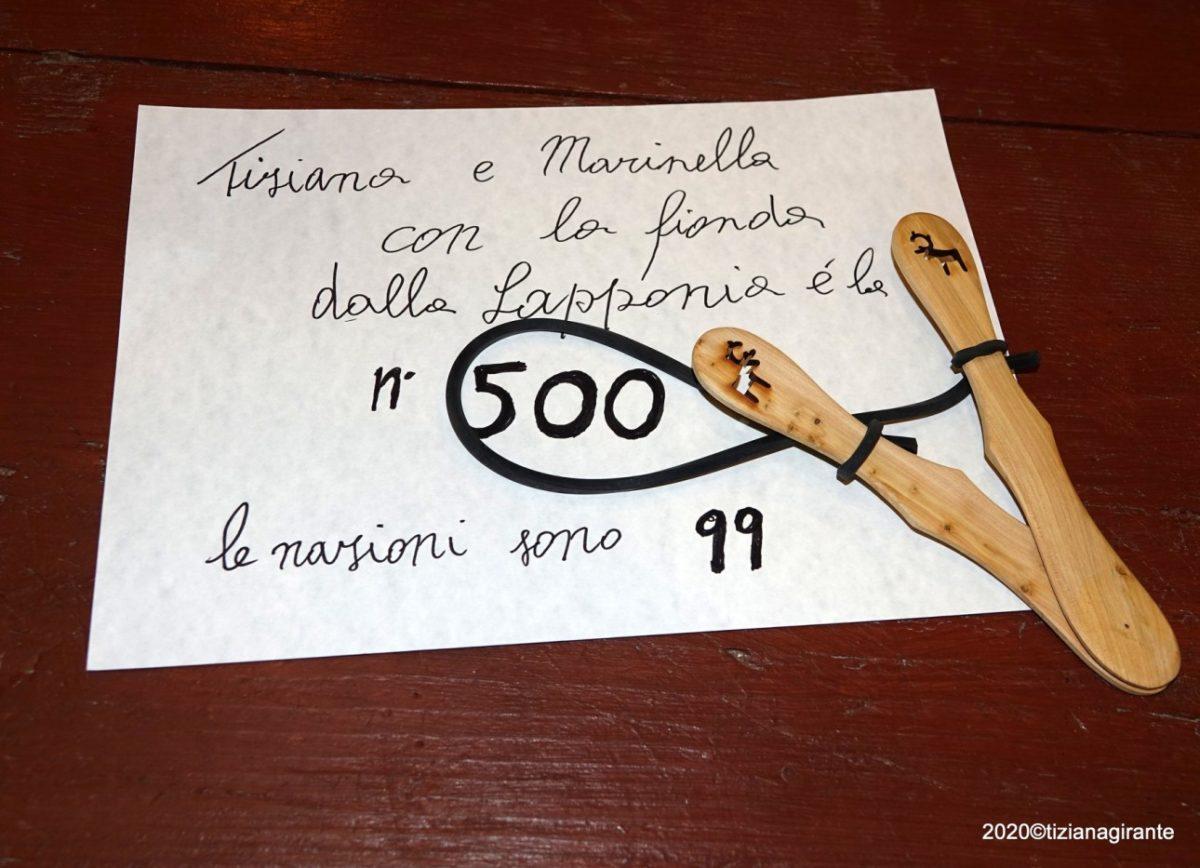 Albenga Piccolo Museo della Fionda consegna Fionda dalla Lapponia02