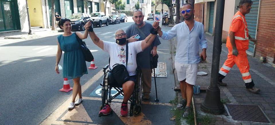 Albenga - nuovi parcheggi disabili
