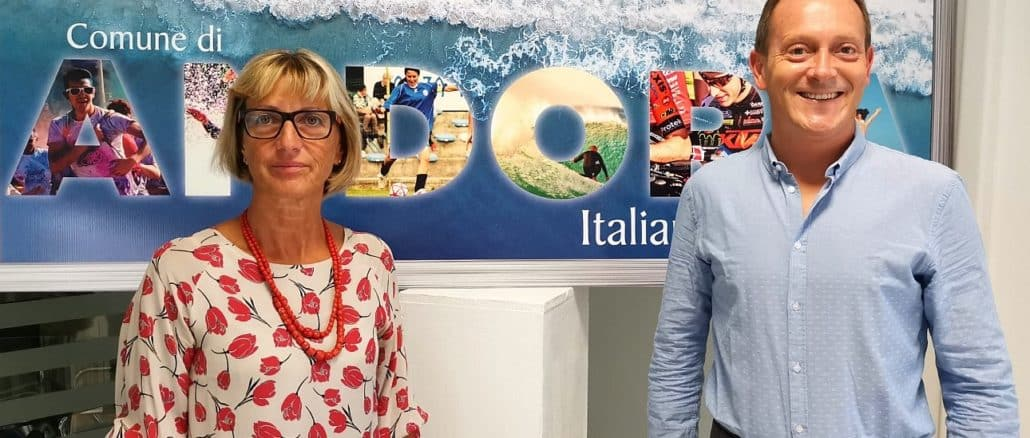 Andora - ingegnere Nicoletta Oreggia e sindaco Mauro Demichelis