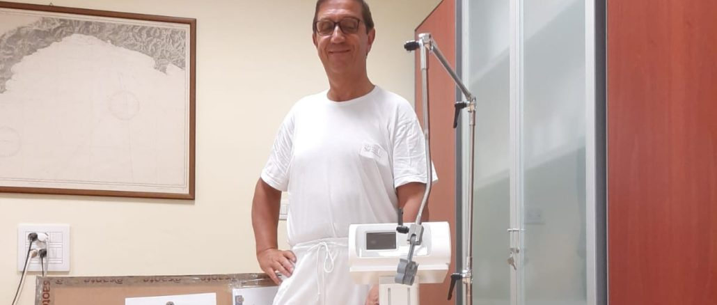 Lions Club - donazione ventilatore polmonare a ospedale Albenga