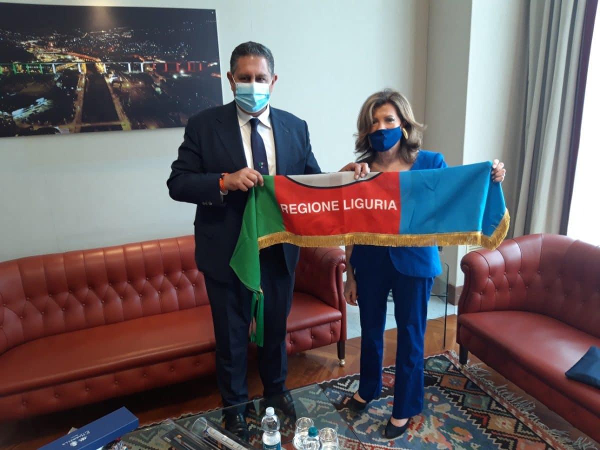 Regione Liguria incontro presidente del senato Casellati e presidente Toti