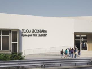 Rendering nuova scuola Alassio