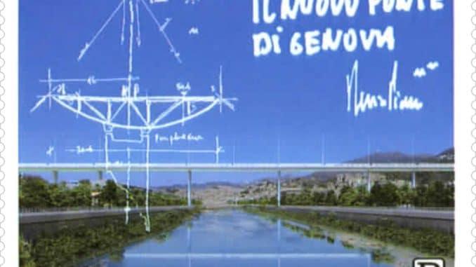 Un francobollo dedicato al nuovo ponte Genova San Giorgio