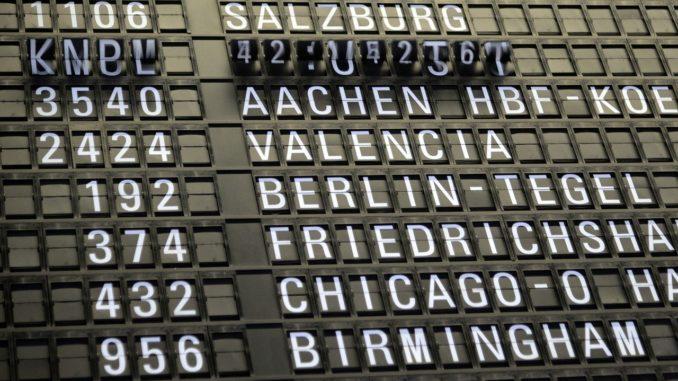 aeroporto tabellone