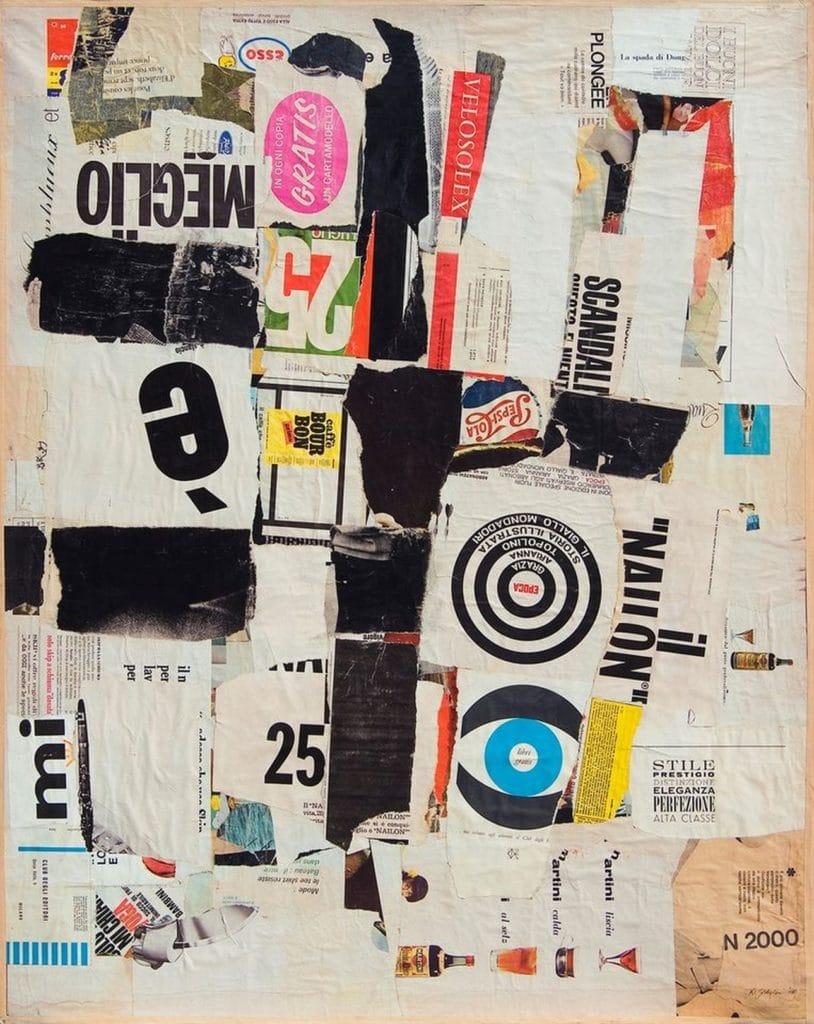 Remo Gordigiani, Collage n. 1. è meglio. 1964-1967. Collezione Fond. Caript