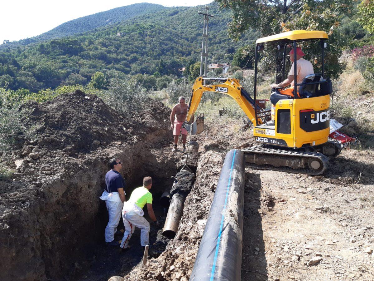 Alassio - Acquedotto riparazione Sca