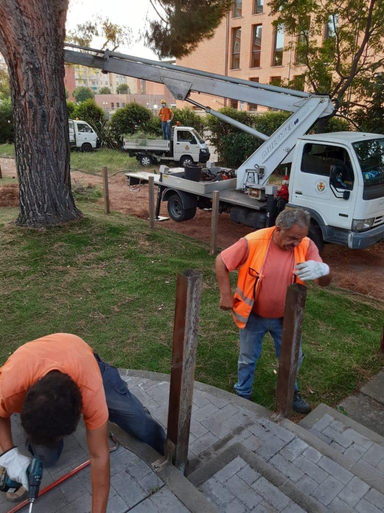 Albenga - lavori cantonieri asilo
