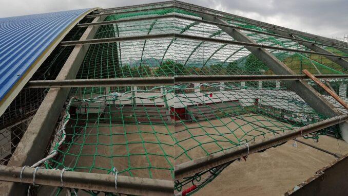Albenga - lavori tetto Bocciofila