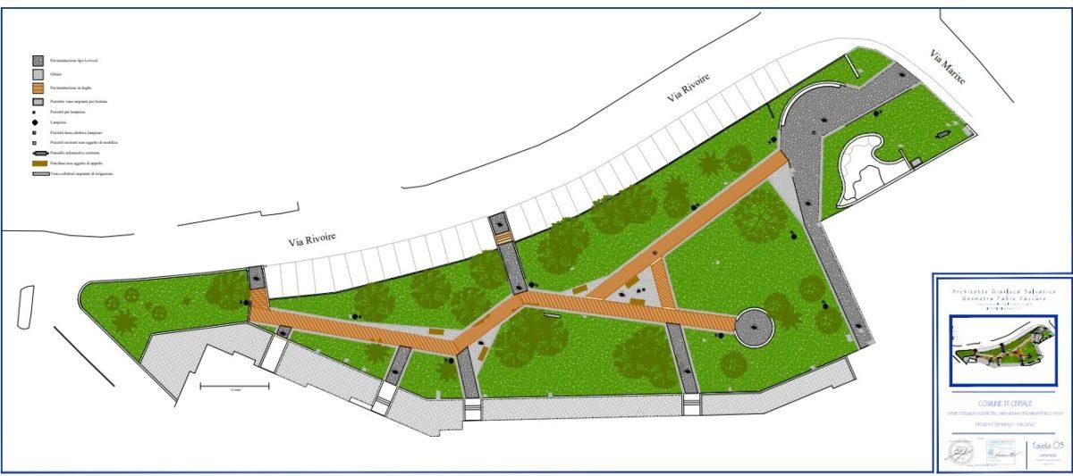 Ceriale parco Sasso rendering progetto