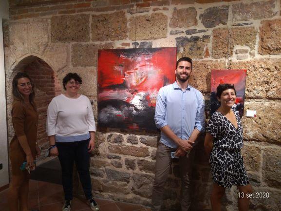 I curatori della mostra della Pansera (Foto Daros)