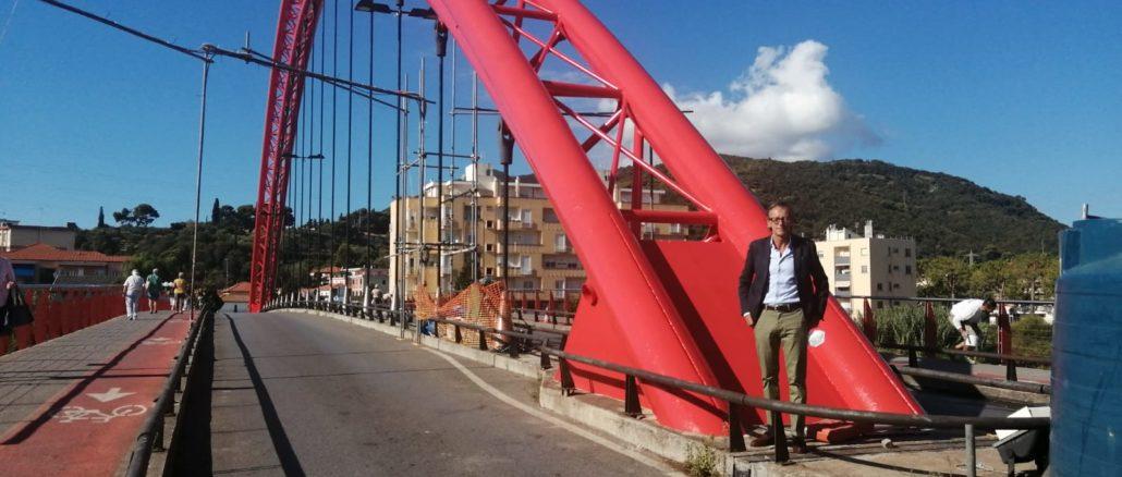 Il Ponte rosso e il sindaco di Albenga Riccardo Tomatis