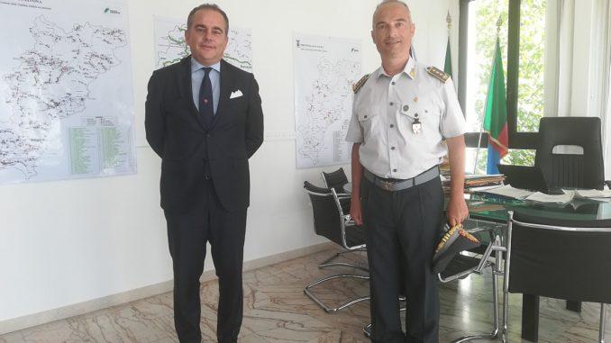 Incontro presidente Provincia di Savona el nuovo comandante Guardia di Finanza