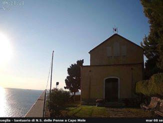 Laigueglia - webcam Santuario Penne
