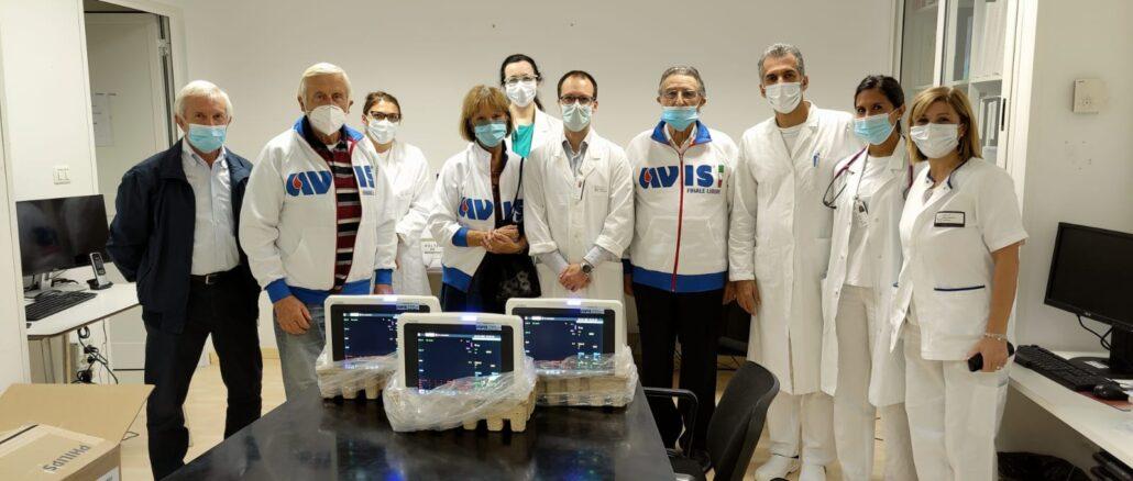 Pietra Ligure - monitor donati da Avis a Ospedale Santa Corona