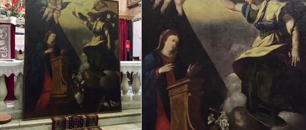 Restaurata Annunciazione Conio