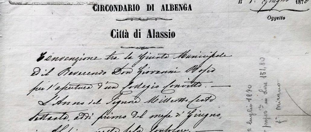 Salesiani Alassio - Istituto son Bosco - Convenzione 1