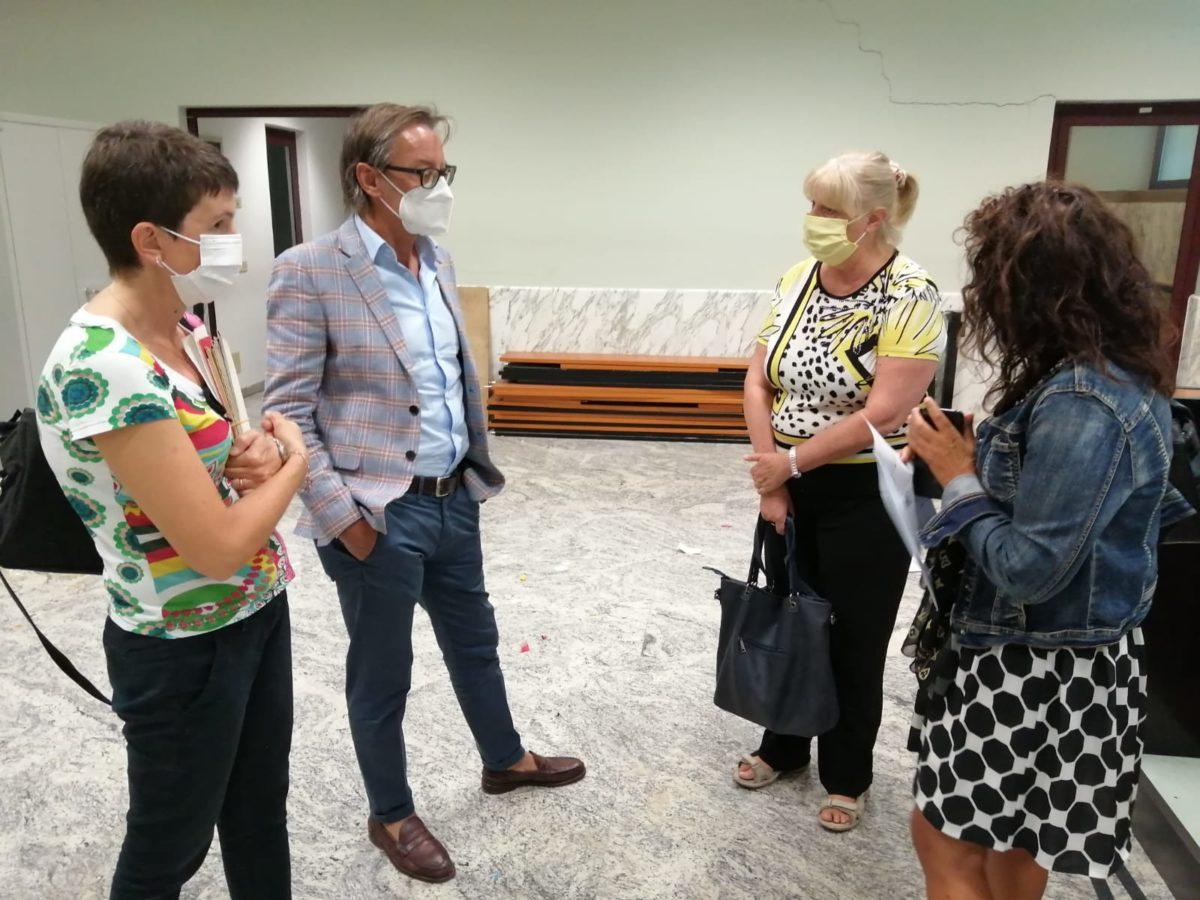 Sopralluogo - per il Liceo di Albenga nuova aula presso ex tribunale