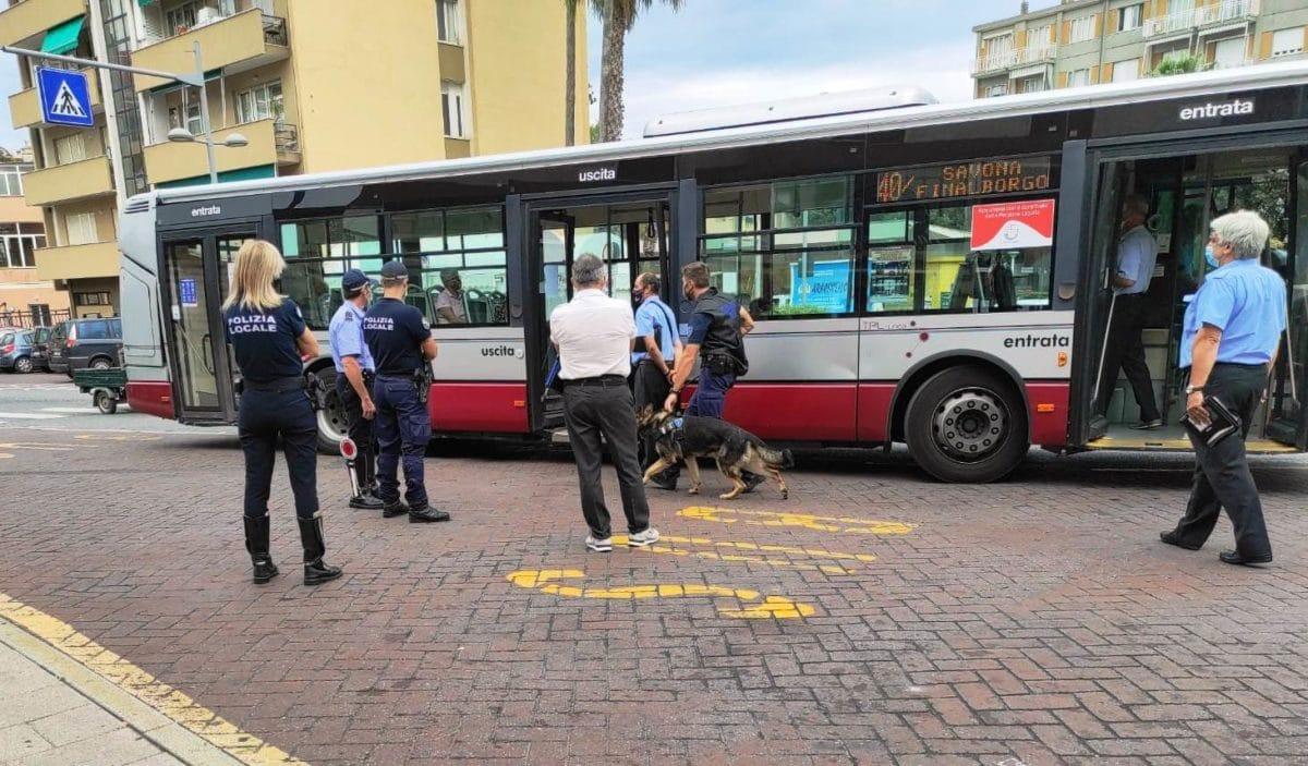 TPL - Savona - Finale Ligure controlli bus