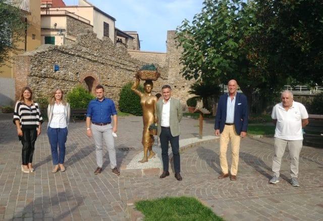 Villanova d'Albenga - europarlamentare Salini e candidati di Forza Italia-Liguria Popolare