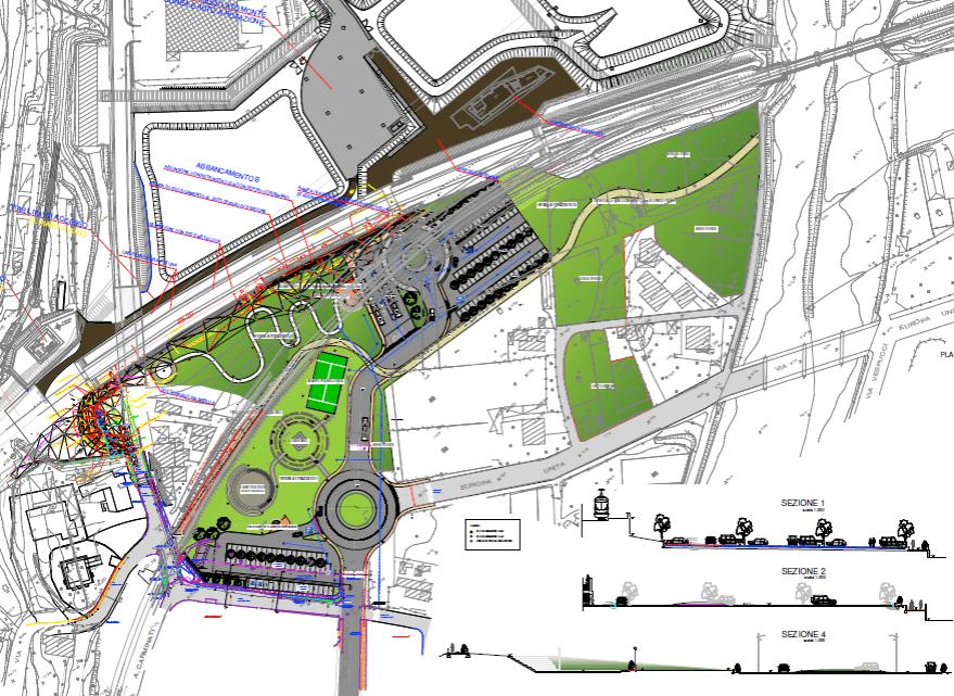 Andora - progetto opere di sistemazione a valle stazione