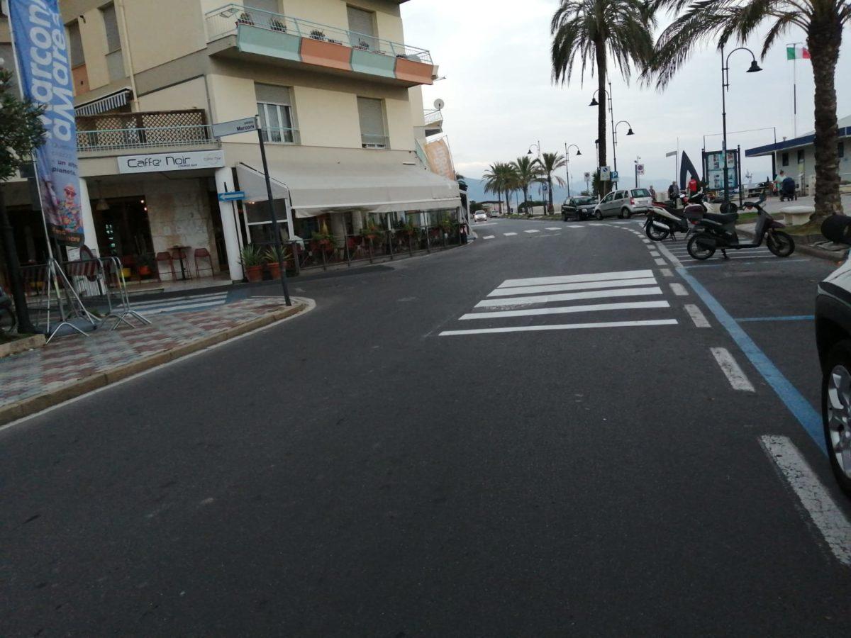 dissuasori velocità zona mare Albenga