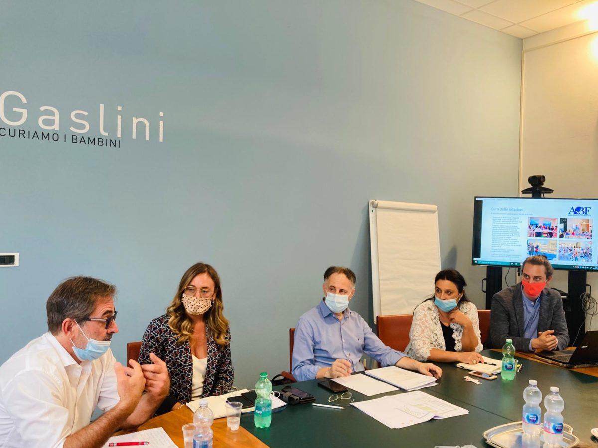 gruppo lavoro progetto Fondazione Bocelli - Gaslini